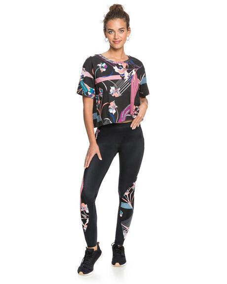 TRUE BLACK WOMENS CLOTHING ROXY ACTIVEWEAR - ERJKT03741-XKPM