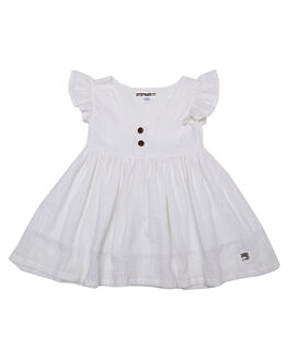 WHITE KIDS GIRLS SWEET CHILD OF MINE DRESSES + PLAYSUITS - SMU18BBDLDRSSWHT