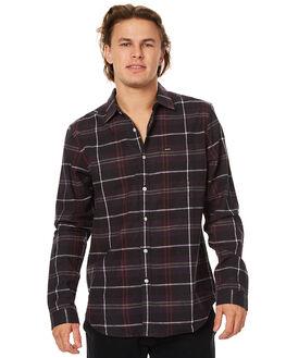 DARK CHAR MARLE MENS CLOTHING RVCA SHIRTS - R173190DCMRL