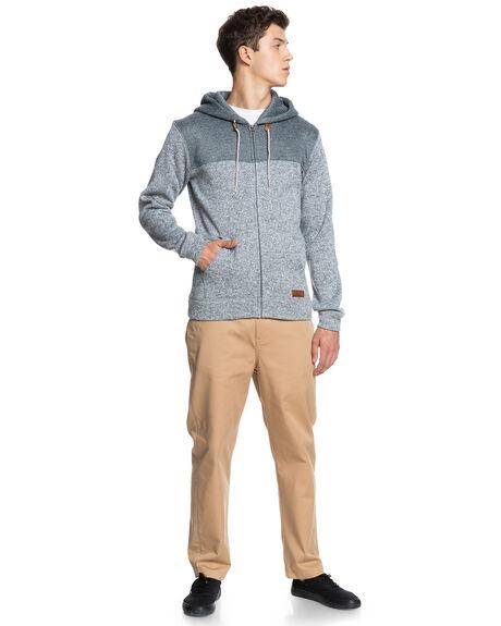 MEDIUM GREY HEATHER MENS CLOTHING QUIKSILVER HOODIES + SWEATS - EQYFT04013-KPVH