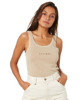 OXFORD TAN WOMENS CLOTHING THRILLS SINGLETS - WTW20-150COXTN