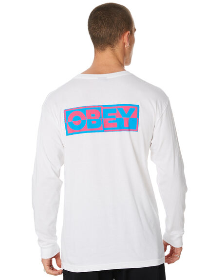 WHITE MENS CLOTHING OBEY TEES - 164901966WHT