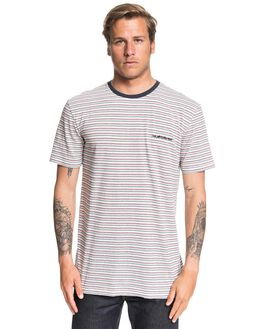 AIRY BLUE SHRED THAT MENS CLOTHING QUIKSILVER TEES - EQYKT03944-BFA3