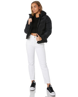 BLACK WOMENS CLOTHING RUSTY JACKETS - JKL0384BLK