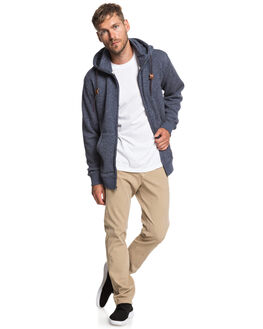 NAVY BLAZER HEATHER MENS CLOTHING QUIKSILVER JUMPERS - EQYFT03835-BYJH