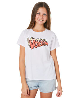 WHITE COMBO KIDS GIRLS VOLCOM TOPS - B35319Y1WTC