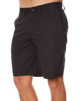 GREY BLACK MENS CLOTHING OURCASTE SHORTS - S1000GBL