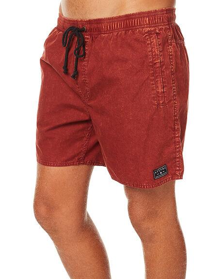 RED ACID MENS CLOTHING AFENDS SHORTS - 09-04-120REDAC