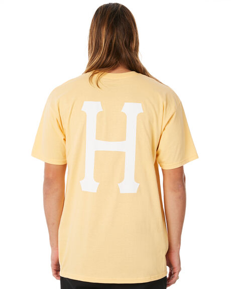 PEACH MENS CLOTHING HUF TEES - HUF-TS00339-PEACH