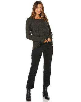 OLIVE BLACK TERRAIN WOMENS CLOTHING BETTY BASICS KNITS + CARDIGANS - BB425W20OLBKT
