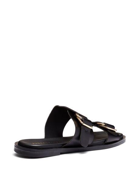 BLACK WOMENS FOOTWEAR JUST BECAUSE SLIDES - SOLE-JB0529BLK