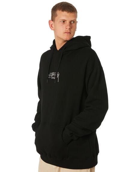 BLACK MENS CLOTHING STUSSY JUMPERS - ST091200BLK