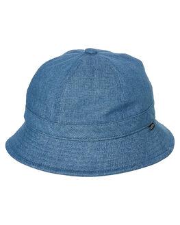 BLUE WASHED DENIM MENS ACCESSORIES BRIXTON HEADWEAR - 10281BLWSD