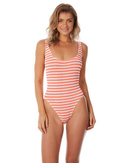 BLOOD ORANGE WHITE WOMENS SWIMWEAR BOND EYE ONE PIECES - BOUND034BLDOR