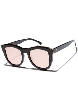 GLOSS BLK  ROSE GLD UNISEX ADULTS VALLEY SUNGLASSES - S0281BLKGD
