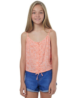 TROPICAL PEACH KIDS GIRLS BILLABONG SINGLETS - 5571092TROP
