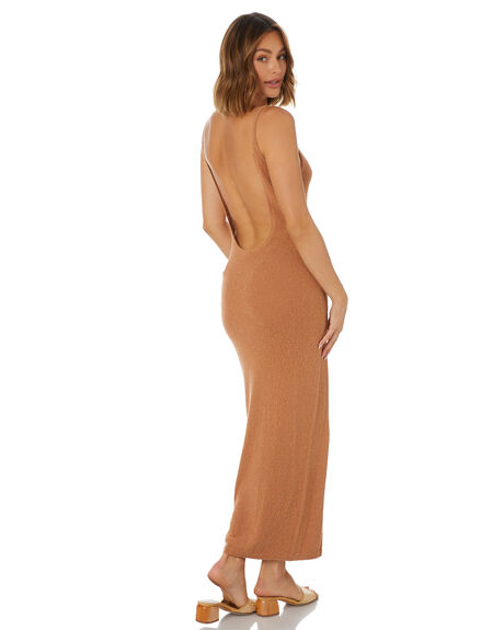 CAMEL WOMENS CLOTHING TIGERLILY DRESSES - T602130CAM