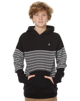 BLACK KIDS BOYS VOLCOM JUMPERS - C4131703BLK