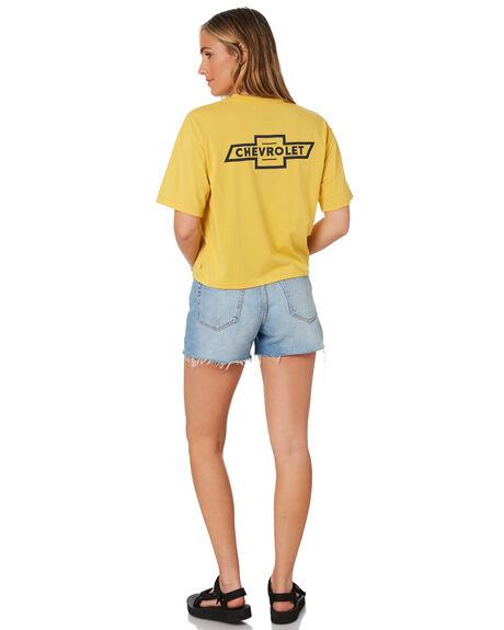 IMPALA YELLOW WOMENS CLOTHING BRIXTON TEES - 02827IMYLW