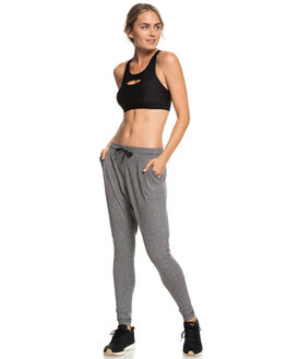 CHARCOAL HEATHER WOMENS CLOTHING ROXY PANTS - ERJNP03217-KTAH