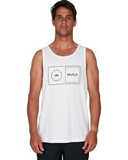WHITE MENS CLOTHING RVCA SINGLETS - RV-R307003-WHT