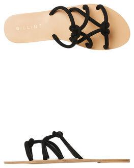 BLACK SUEDE WOMENS FOOTWEAR BILLINI FASHION SANDALS - S538BLKSD