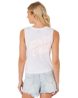WHITE WOMENS CLOTHING SANTA CRUZ SINGLETS - SC-WTC7368WHI