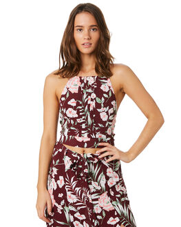 MERLOT FLORAL WOMENS CLOTHING O'NEILL FASHION TOPS - 5421201MRF