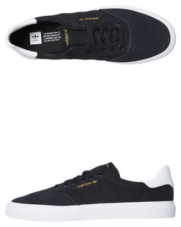 BLACK WHITE MENS FOOTWEAR ADIDAS SKATE SHOES - SSB22703BKWHM