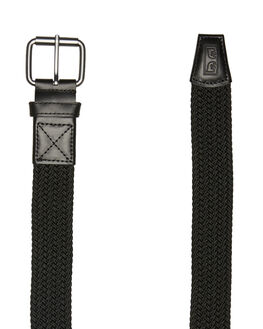 BLACK MENS ACCESSORIES OBEY BELTS - 100050027BLK