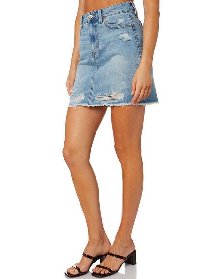 AIR BLUE WOMENS CLOTHING RES DENIM SKIRTS - RD-WEN20432BLU