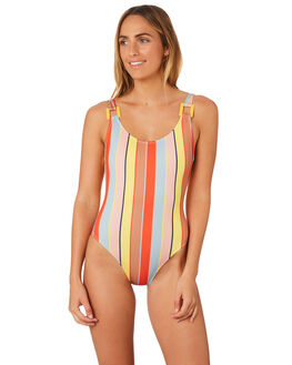CABANA STRIPE WOMENS SWIMWEAR SOLID AND STRIPED ONE PIECES - WS-1892-1551CBN