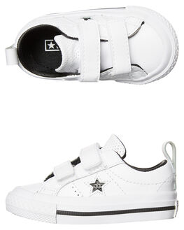 WHITE BLACK KIDS TODDLER BOYS CONVERSE FOOTWEAR - 758496WHI