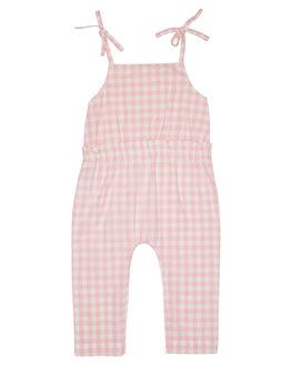 PINK GINGHAM KIDS GIRLS WALNUT DRESSES + PLAYSUITS - SP19GNGJMPPKGNG
