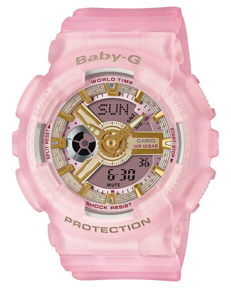 PINK WOMENS ACCESSORIES BABY G WATCHES - BA110SC-4ADPNK