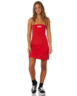 RED WOMENS CLOTHING STUSSY DRESSES - ST182516RED