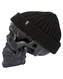 BLACK MENS ACCESSORIES BILLY BONES CLUB HEADWEAR - BBCBEAN008BLK