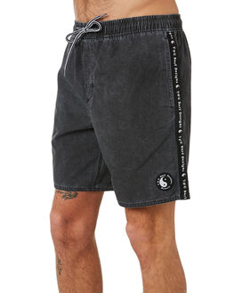 BLACK MENS CLOTHING TOWN AND COUNTRY BOARDSHORTS - TBO412ABLK