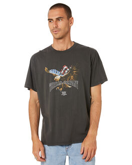 MERCH BLACK MENS CLOTHING THRILLS TEES - TR9-115BMMCBLK