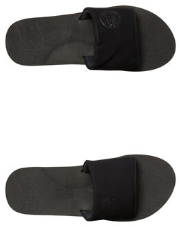 BLACK MENS FOOTWEAR RIP CURL SLIDES - TCTE490090