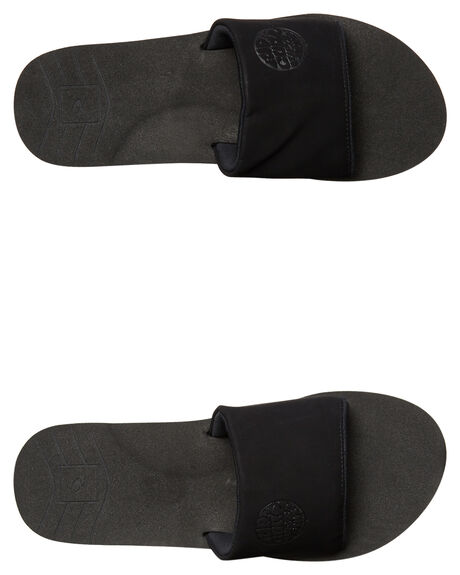 BLACK MENS FOOTWEAR RIP CURL SLIDES - TCTE490090