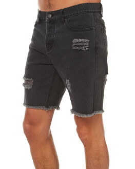 FADED BLACK MENS CLOTHING AFENDS SHORTS - 09-05-020FBLK