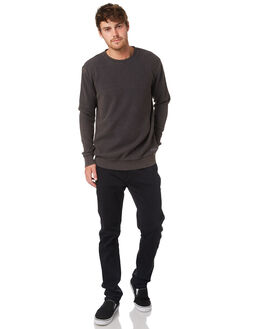 BLACK MENS CLOTHING RVCA JUMPERS - R393153BLACK