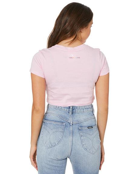 SWEET LILAC WOMENS CLOTHING CALVIN KLEIN TEES - J20J217203VHQ