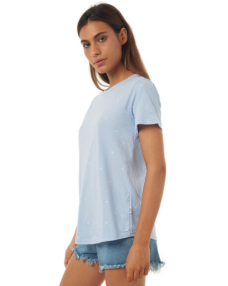 PALE BLUE WOMENS CLOTHING RPM TEES - 7SWT02CPBLU