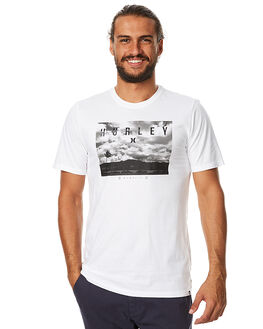 WHITE MENS CLOTHING HURLEY TEES - AMTSHZPT