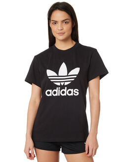 BLACK WOMENS CLOTHING ADIDAS TEES - DX2323BLK