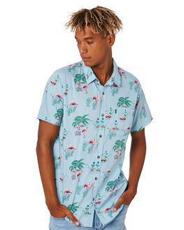 LIGHT GREEN MENS CLOTHING RIP CURL SHIRTS - CSHOB14820