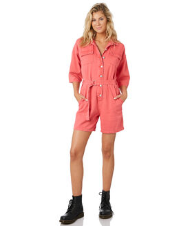 HOT PINK WOMENS CLOTHING TWIIN PLAYSUITS + OVERALLS - IE19F1952HPNK