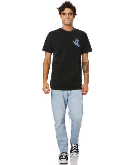 BLACK ACID MENS CLOTHING SANTA CRUZ TEES - SC-MTD0789BLKACID